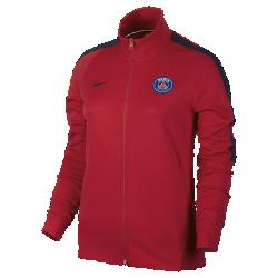 Женская футбольная куртка Paris Saint-Germain FranchiseЖенская футбольная куртка Paris Saint-Germain Franchise из мягкой и прочной ткани двойного переплетения с фирменными деталями обеспечивает комфорт на весь день.<br>