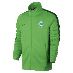Мужская футбольная куртка Werder Bremen FranchiseМужская футбольная куртка Werder Bremen Franchise из мягкой и прочной ткани двойного переплетения с фирменными деталями обеспечивает комфорт на весь день.<br>