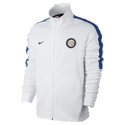Мужская футбольная куртка Inter Milan FranchiseМужская футбольная куртка Inter Milan Franchise из мягкой и прочной ткани двойного переплетения с фирменными деталями обеспечивает комфорт на весь день.<br>