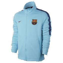 Мужская футбольная куртка FC Barcelona FranchiseМужская футбольная куртка FC Barcelona Franchise из мягкой ткани двойного переплетения с фирменными деталями обеспечивает комфорт на весь день.<br>