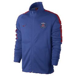 Мужская футбольная куртка Paris Saint-Germain FranchiseМужская футбольная куртка Paris Saint-Germain Franchise из мягкой и прочной ткани двойного переплетения с фирменными деталями обеспечивает комфорт на весь день.<br>