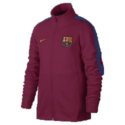 Футбольная куртка для школьников FC Barcelona FranchiseФутбольная куртка для школьников FC Barcelona Franchise из мягкой и прочной ткани двойного переплетения с фирменными деталями обеспечивает комфорт на весь день.<br>