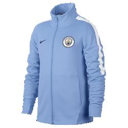 Футбольная куртка для школьников Manchester City FC FranchiseФутбольная куртка для школьников Manchester City FC Franchise из мягкой и прочной ткани двойного переплетения с фирменными деталями обеспечивает комфорт на весь день.<br>