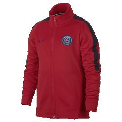 Футбольная куртка для школьников Paris Saint-Germain FranchiseФутбольная куртка для школьников Paris Saint-Germain Franchise из мягкой и прочной ткани двойного переплетения с фирменными деталями обеспечивает комфорт на весь день.<br>