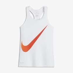 Майка для тренинга для девочек школьного возраста Nike DryМайка для тренинга для девочек школьного возраста Nike Dry из влагоотводящей ткани обеспечивает комфорт во время тренировки и игры.<br>