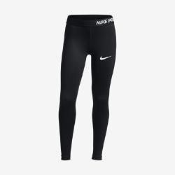 Тайтсы для тренинга для девочек школьного возраста Nike Pro HyperCoolТайтсы для тренинга для девочек школьного возраста Nike Pro HyperCool из эластичной ткани с сетчатыми вставками обеспечивают вентиляцию и комфорт во время тренировок и игр.<br>