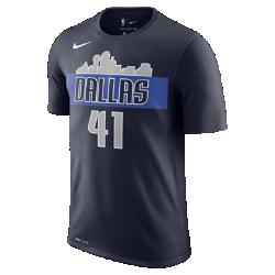 Мужская футболка НБА Dirk Nowitzki Dallas Mavericks Nike DryМужская футболка НБА Dallas Mavericks Nike Dry из влагоотводящей ткани Dri-FIT обеспечивает комфорт во время игры и на каждый день. Преимущества  Ткань Nike Dry отводит влагу и обеспечивает комфорт Горловина из рубчатой ткани для дополнительной прочности  Информация о товаре  Состав: 58% хлопок/42% полиэстер Машинная стирка Импорт<br>
