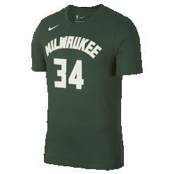 Мужская футболка НБА Giannis Antetokounmpo Milwaukee Bucks Nike DryМужская футболка НБА Milwaukee Bucks Nike Dry из влагоотводящей ткани Dri-FIT, украшенной символикой команды, обеспечивает комфорт во время игры и на каждый день. Преимущества  Ткань Nike Dry отводит влагу и обеспечивает комфорт Горловина из рубчатой ткани для дополнительной прочности  Информация о товаре  Состав: 58% хлопок/42% полиэстер Машинная стирка Импорт<br>