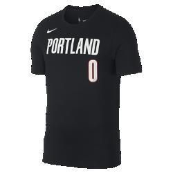 Мужская футболка НБА Damian Lillard Portland Trail Blazers Nike DryМужская футболка НБА Portland Trail Blazers Nike Dry из влагоотводящей ткани Dri-FIT обеспечивает комфорт во время игры и на каждый день. Преимущества  Ткань Nike Dry отводит влагу и обеспечивает комфорт Горловина из рубчатой ткани для дополнительной прочности  Информация о товаре  Состав: 58% хлопок/42% полиэстер Машинная стирка Импорт<br>