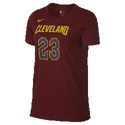 Женская футболка НБА LeBron James Cleveland Cavaliers Nike DryЖенская футболка НБА Cleveland Cavaliers Nike Dry из ткани Dri-FIT обеспечивает комфорт во время игры и на каждый день. Преимущества  Ткань Nike Dry отводит влагу и обеспечивает комфорт Прямая нижняя кромка для комфорта каждый день  Информация о товаре  Состав: 58% хлопок/42 % полиэстер Машинная стирка Импорт<br>