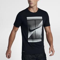 Мужская теннисная футболка NikeCourt DryМужская теннисная футболка NikeCourt Dry из влагоотводящей ткани обеспечивает комфорт во время игры и на каждый день.<br>