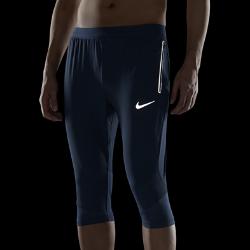 Мужские беговые брюки длиной 3/4 Nike SwiftМужские беговые брюки Nike Swift позволяют ощущать комфорт, когда ты выходишь на пробежку, занимаешься повседневными делами или встречаешься с друзьями. Легкие эластичные материалы повторяют движения тела и отводят влагу, обеспечивая длительный комфорт.<br>