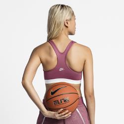 Бра NikeLab Pro Classic x PigalleСпортивное бра со средней поддержкой NikeLab Pro Classic x Pigalle с компрессионной посадкой и V-образной спиной обеспечивает средний уровень поддержки и свободу движений во время тренировки. Фирменные элементы Pigalle создают яркий образ в баскетбольном стиле.<br>