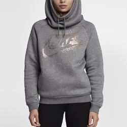 Женская флисовая худи Nike Sportswear Rally Funnel NeckЖенская флисовая худи Nike Sportswear Rally Funnel Neck обеспечивает тепло и комфорт. Детали с эффектом металлик, такие как золотистые наконечники шнурка, создают сияющий акцент.<br>