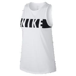 Женская майка для тренинга Nike DryЖенская майка для тренинга Nike Dry обеспечивает комфорт и свободу движений во время тренировки благодаря влагоотводящей ткани и конструкции без рукавов.<br>