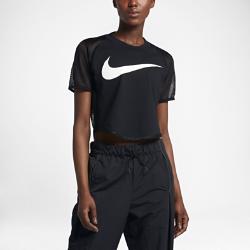 Женская укороченная футболка с логотипом Swoosh Nike Sportswear MeshЖенская укороченная футболка с логотипом Swoosh Nike Sportswear Mesh со вставками из легкой сетки и рукавами покроя реглан обеспечивает воздухопроницаемость, комфорт и свободу движений.<br>
