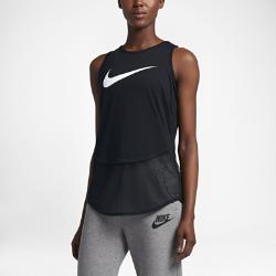 Женская майка с логотипом Swoosh Nike Sportswear MeshЖенская майка с логотипом Swoosh Nike Sportswear Mesh с нижней кромкой из сетки и утягивающим шнурком на талии обеспечивает воздухопроницаемость, комфорт и идеальную посадку.<br>