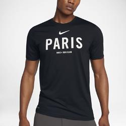 Мужская футболка Nike Dry Run Club (Paris)Мужская футболка Nike Dry Run Club (Paris) из мягкой влагоотводящей ткани дополнена яркой графикой, посвященной пробежкам по мегаполису.<br>