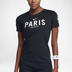 Женская футболка Nike Dry Run Club (Paris)Женская футболка Nike Dry Run Club (Paris) из мягкой влагоотводящей ткани дополнена яркой графикой, посвященной пробежкам по мегаполису.<br>