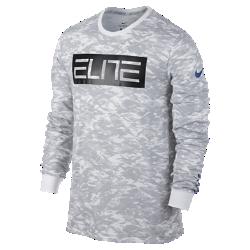 【ナイキ(NIKE)公式ストア】 ナイキ ドライ エリート カモ メンズ ロングスリーブ バスケットボール Tシャツ 876825-100 ホワイト