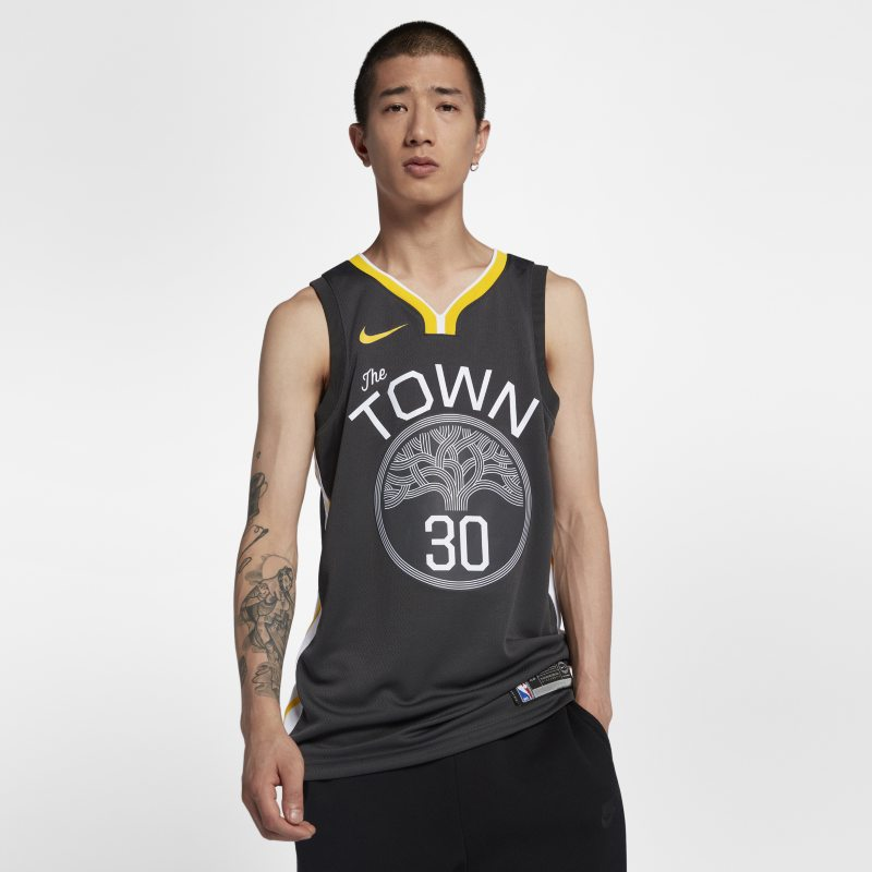 Stephen Curry Statement Edition Swingman (Golden State Warriors) Eşleştirilmiş Nike NBA Erkek Forması  877205-060 -  Siyah 2XL Beden Ürün Resmi