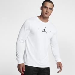 【ナイキ(NIKE)公式ストア】 ジョーダン エア ジャンプマン メンズ ロングスリーブ バスケットボール Tシャツ 878386-100 ホワイト