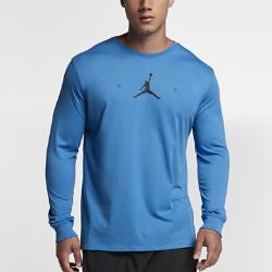 【ナイキ(NIKE)公式ストア】 ジョーダン エア ジャンプマン メンズ ロングスリーブ バスケットボール Tシャツ 878386-481 ブルー