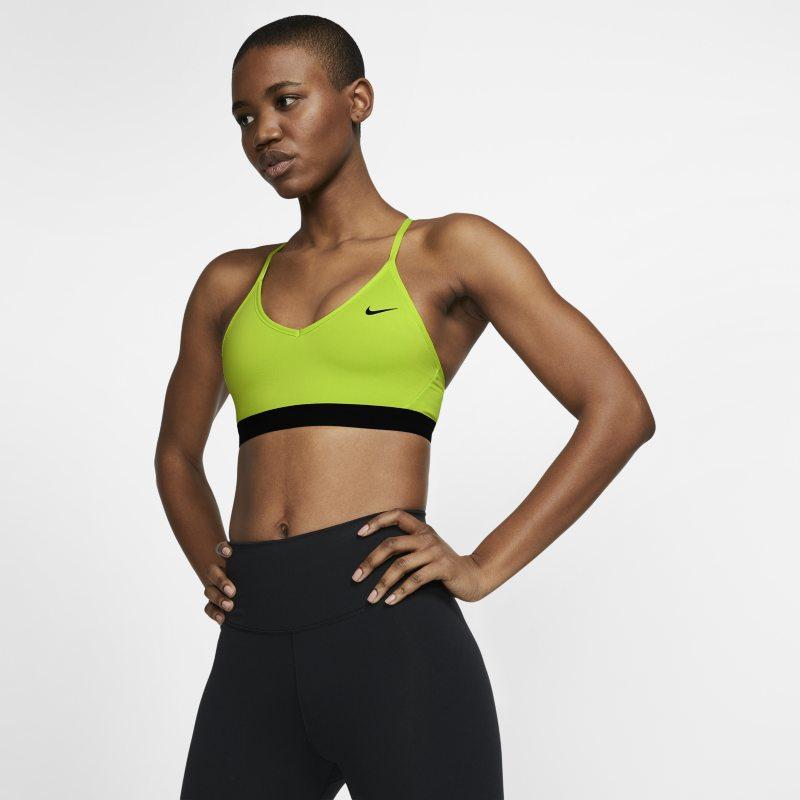 Nike Indy Sujetador deportivo de sujeción ligera con acolchado - Mujer - Amarillo