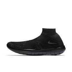 Мужские беговые кроссовки Nike Free RN Motion Flyknit 2017Созданные для коротких тренировочных забегов мужские беговые кроссовки Nike Free RN Motion Flyknit 2017 способствуют укреплению мышц стопы. Ультрагибкая инновационная подошваFree обеспечивает естественный комфорт при беге. Простая конструкция с двумя ремешками вместо шнуровки создает невероятно стильный образ, так что ты чувствуешь комфорт, стильно выглядишь и ощущаешь свободу движений при беге.  Плотная удобная посадка  Отворот средней высоты из материала Nike Flyknit для удобной плотной посадки от голеностопа до носка. Два перекрещивающихся ремешка из сетки обеспечивают удобную посадку в верхней части стопы, помогая избежать давления от традиционных шнурков. Особая конструкция повышает циркуляцию воздуха для ощущения прохлады.  Амортизация и поддержка  Два слоя пеноматериала — более мягкий непосредственно под стопой и более жесткий возле подметки — идеальное сочетание комфорта и поддержки для плавных движений стопы.  Свобода движений  Подошва Nike Free обеспечивает комфорт минималистичной беговой обуви. Она повторяет естественные движения стопы, расширяясь при каждом приземлении и принимая исходную форму при отталкивании.  Подробнее  Один шов на внутренней части пятки для гладкости и комфорта Скругленная пятка для комфорта и плавных движений стопы Подметка из пеноматериала с накладками из резины в передней части и в области пятки для прочности Вес: 234 г (мужской размер 10) Перепад: 4 мм  Истоки Flyknit  При создании технологии Nike Flyknit специалисты опирались на просьбы атлетов создать обувь, которая бы практически не ощущалась на ноге и сидела словно вторая кожа. Команда программистов, инженеров и дизайнеров Nike в течение 4 лет разрабатывала технологию, которая позволит повысить износостойкость ткани для верха кроссовок и поможет ей дольше сохранять форму. Им удалось довести разработку до совершенства с учетом всех требований к поддержке, эластичности и воздухопроницаемости. Результатом работы стала су