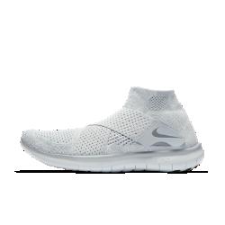 Мужские беговые кроссовки Nike Free RN Motion Flyknit 2017Мужские беговые кроссовки Nike Free RN Motion Flyknit 2017 обеспечивают естественность движений стопы. Ультрагибкая подошва меняет форму вместе со стопой во время бега. Удобнаясистема фиксации с двумя ремешками заменяет традиционную шнуровку для дополнительной легкости.  Плотная удобная посадка  Легкая ткань Nike Flyknit обеспечивает дополнительную эластичность сверху и поддержку в средней части стопы. Два сетчатых ремешка обеспечивают идеальную посадку и более высокий уровень комфорта в сравнении с традиционной шнуровкой.  Амортизация и поддержка  Два слоя пеноматериала обеспечивают идеальное сочетание комфорта и поддержки.  Создано для движения  Гибкая подошва Nike Free обеспечивает естественность движений стопы, расширяясь и сжимаясь при каждом шаге.  Подробнее  Меньше слоев материала для мягкости и абсолютного комфорта Литая внутренняя вставка повторяет форму стопы для идеальной посадки Скругленная пятка для комфорта и плавности движений при отталкивании Накладки из резины на носке и пятке для прочности Вес: 234 г (мужской размер 10) Перепад: 4 мм  Истоки Flyknit  При создании технологии Nike Flyknit специалисты опирались на просьбы атлетов создать обувь, которая бы практически не ощущалась на ноге и сидела словно вторая кожа. Команда программистов, инженеров и дизайнеров Nike в течение 4 лет разрабатывала технологию, которая позволит повысить износостойкость ткани для верха кроссовок и поможет ей дольше сохранять форму. Им удалось довести разработку до совершенства с учетом всех требований к поддержке, эластичности и воздухопроницаемости. Результатом работы стала суперлегкая и практически бесшовная ткань верха, обеспечивающая оптимальное прилегание. Кроме того, невероятно точная технология производства повышает функциональность и сокращает количество отходов в среднем на 60% по сравнению с классическим методом, позволяя сохранить сотни тонн материалов.<br>