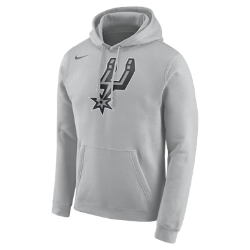 Image of Felpa NBA in fleece con cappuccio San Antonio Spurs Nike - Uomo