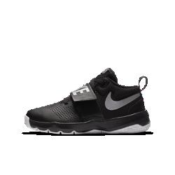 Баскетбольные кроссовки для школьников Nike Team Hustle D 8Баскетбольные кроссовки для школьников Nike Team Hustle D 8 с перфорированными вставками и глубокими эластичными желобками обеспечивают охлаждение и естественную свободу движений во время игры.<br>