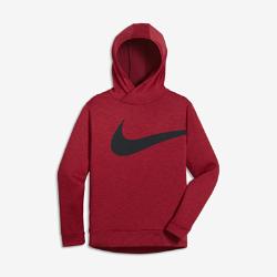 Худи для тренинга для мальчиков школьного возраста Nike BreatheХуди для тренинга для мальчиков школьного возраста Nike Breathe из легкой влагоотводящей ткани обеспечивает вентиляцию и комфорт.<br>