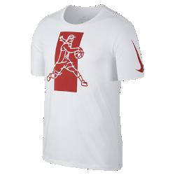 Мужская футболка Nike Dry KyrieМужская футболка Nike Dry Kyrie из влагоотводящей ткани обеспечивает абсолютный комфорт на площадке и за ее пределами.<br>