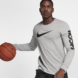 Мужская баскетбольная футболка с длинным рукавом Nike DryМужская баскетбольная футболка с длинным рукавом Nike Dry из влагоотводящей ткани обеспечивает комфорт во время игры.<br>