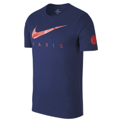Мужская футболка Paris Saint-Germain DryМужская футболка Paris Saint-Germain Dry из мягкой влагоотводящей ткани с фирменными деталями обеспечивает длительный комфорт.<br>