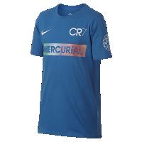 <ナイキ(NIKE)公式ストア> ナイキ CR7 マーキュリアル ジュニア (ボーイズ) Tシャツ 882707-481 ブルー画像