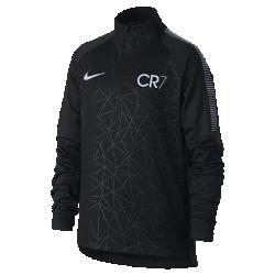 Футболка для тренинга для мальчиков школьного возраста Nike Dry CR7 SquadФутболка для тренинга для мальчиков школьного возраста Nike Dry CR7 Squad из влагоотводящей ткани с рукавами покроя реглан обеспечивает комфорт и свободу движений на поле.<br>