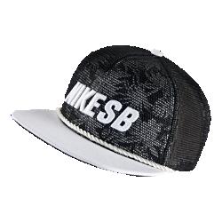 Бейсболка с застежкой Nike SB RopeБейсболка Nike SB Rope с сетчатыми панелями и застежкой на кнопке сзади для регулируемой посадки и комфорта.<br>