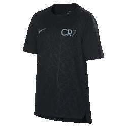 Игровая футболка с коротким рукавом для школьников Nike Dry Squad CR7Игровая футболка с коротким рукавом для школьников Nike Dry Squad CR7 из влагоотводящей ткани с рукавами покроя реглан обеспечивает комфорт и свободу движений на поле.<br>