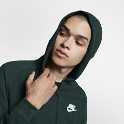 Мужская худи с молнией во всю длину Nike Sportswear Advance 15Мужская худи с молнией во всю длину Nike Sportswear Advance 15 из мягкого смесового хлопка с регулируемым капюшоном обеспечивает тепло и превосходную посадку.<br>