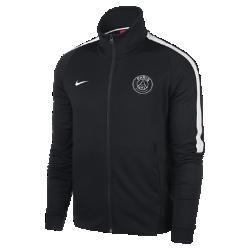 Мужская куртка Paris Saint-Germain Authentic N98Мужская куртка Paris Saint-Germain Authentic N98 обеспечивает тепло и комфорт благодаря прочной ткани и воротнику-стойке с молнией до подбородка.<br>