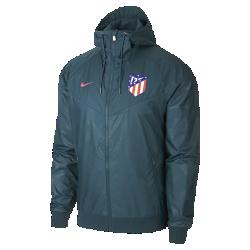 Мужская куртка Atletico de Madrid Authentic WindrunnerМужская куртка Atletico de Madrid Authentic Windrunner сохранила классические элементы оригинальной модели: шеврон на груди и прочную ткань, защищающую от непогоды во время игры илипрогулки.<br>