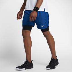 Мужские теннисные шорты NikeCourt Baseline Dry 23 смМужские теннисные шорты NikeCourt Baseline Dry 23 см из влагоотводящей ткани с вшитыми шортами обеспечивают надежную посадку и комфорт во время игры.<br>