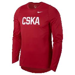 Мужская баскетбольная футболка с длинным рукавом CSKA Moscow EliteМужская баскетбольная футболка с длинным рукавом CSKA Moscow Elite из влагоотводящей ткани обеспечивает комфорт и охлаждение, помогая сконцентрироваться на игре.<br>