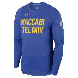 Мужская баскетбольная футболка с длинным рукавом Maccabi Tel Aviv EliteМужская баскетбольная футболка с длинным рукавом Maccabi Tel Aviv Elite из влагоотводящей ткани обеспечивает комфорт и охлаждение, помогая сконцентрироваться на игре.<br>