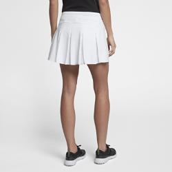 Юбка-шорты из тканого материала для гольфа Nike Flex 35,5 смЮбка-шорты для гольфа Nike Flex 35,5 см из легкого влагоотводящего тканого материала со вшитыми шортами обеспечивает защиту и охлаждение.<br>