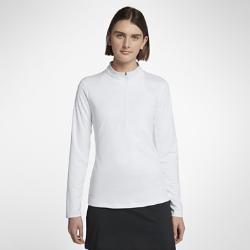 Женская футболка для гольфа с молнией до середины груди Nike DryЖенская футболка для гольфа Nike Dry из влагоотводящей ткани с молнией до середины груди обеспечивает комфорт во время игры.<br>