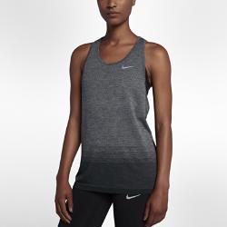 Женская беговая майка Nike Dri-FIT KnitЖенская беговая майка Nike Dri-FIT Knit обеспечивает непревзойденный комфорт благодаря практически бесшовной конструкции. Более открытое плетение в ключевых зонах усиливает вентиляцию, обеспечивая комфорт и помогая полностью сосредоточиться на беге. Свободный крой с широкими проймами для свободы движений.  Специальные зоны вентиляции  На груди, в области плеч и нижней части спины используется более открытое плетение, напоминающее по структуре сетку, для усиленной вентиляции и оптимальной терморегуляции во время разминки и пробежки.  Длительный комфорт  Невероятно гладкая и мягкая ткань и практически бесшовная конструкция (швы есть только на бретелях). Эта первоклассная конструкция обеспечивает непревзойденный комфорт на всей дистанции.  Отведение влаги  Технология Dri-FIT обеспечивает прохладу и комфорт, выводя влагу на поверхность ткани, где она быстро испаряется.<br>