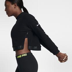 Женская футболка для тренинга с длинным рукавом Nike (большие размеры)Женская футболка для тренинга с длинным рукавом Nike из влагоотводящей ткани обеспечивает комфорт.<br>